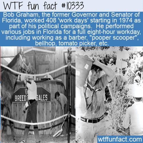 WTF Fun Fact - Bob Graham's 408 work days