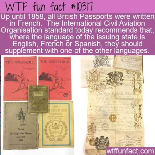 WTF Fun Fact - British Passports In French