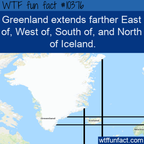 WTF Fun Fact - Greenland Dominates Iceland