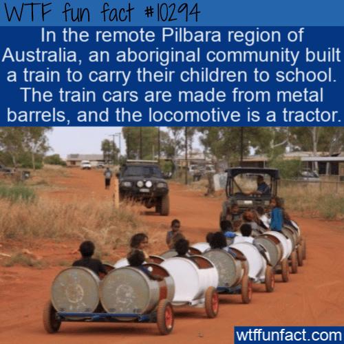 WTF Fun Fact - Metal Barrel Train