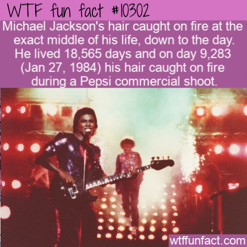WTF Fun Fact - Michael Jackson's Hair On FIre