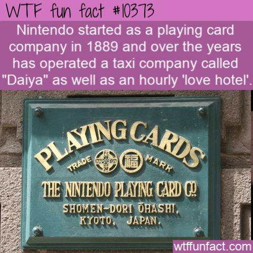WTF Fun Fact - Nintendo Of Past