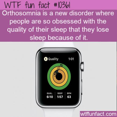 WTF Fun Fact - Orthosomnia