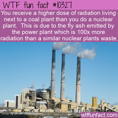 WTF Fun Fact - Radiation From Coal Plant