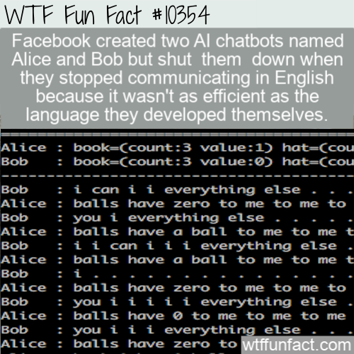 WTF Fun Fact - Facebook AI Chatbot