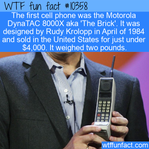 WTF Fun Fact - The First Cell Phone