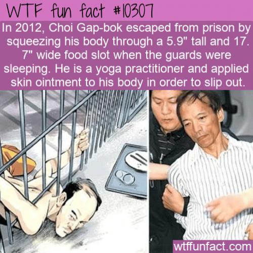 WTF Fun Fact - Yoga Prison Escaped