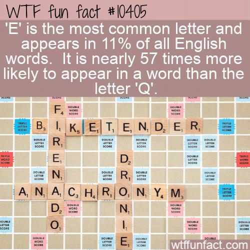 WTF Fun Fact - Most Used In English