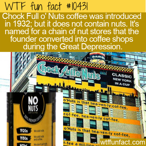 WTF Fun Fact - Nuts Coffee Without Nut