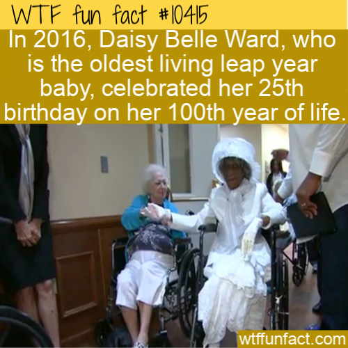 WTF Fun Fact - Oldest Leap Year Baby