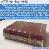 WTF Fun Fact – Philippines Affair Law
