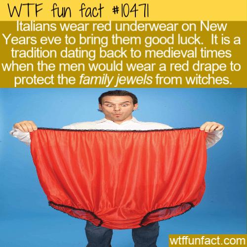 WTF Fun Fact - Lucky Red Underwear