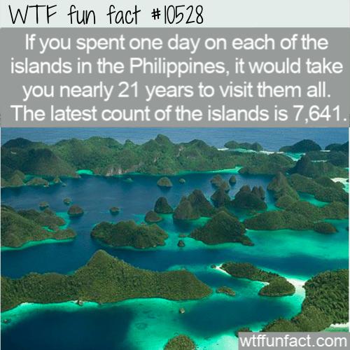 WTF Fun Fact - 7000 Philippine Islands
