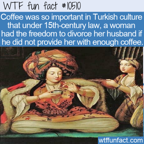 WTF Fun Fact - Divorce For Less Coffee