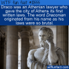 WTF Fun Fact – Draco Was Draconian