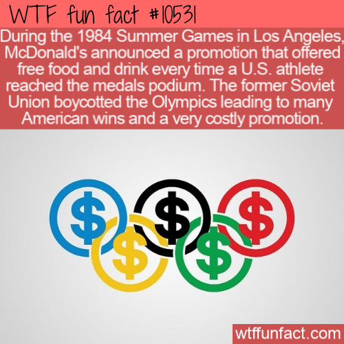 WTF Fun Fact - McDonalds Olympic Promo Gone Wrong