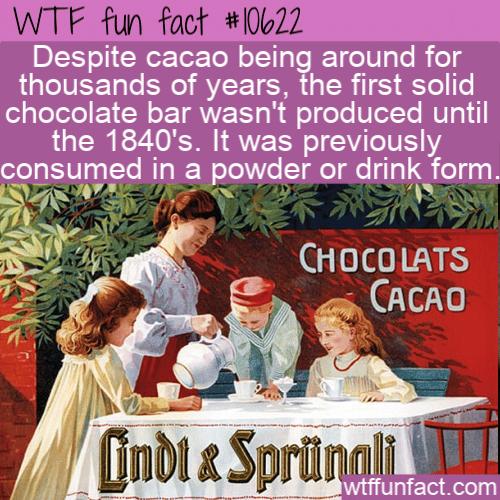 WTF Fun Fact - Chocolate Bar