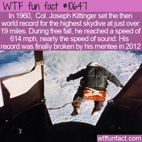 WTF Fun Fact - 1960s skydiver