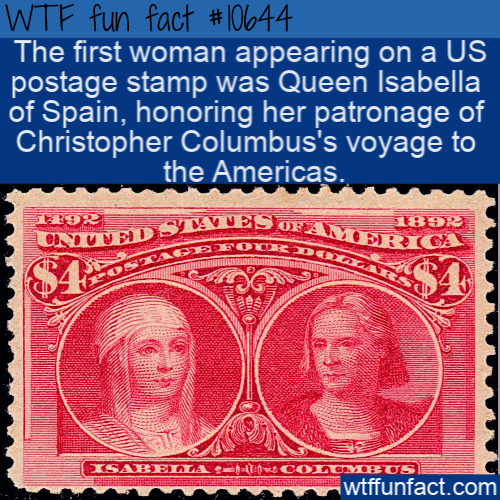 WTF Fun Fact - First Woman On US Stamp