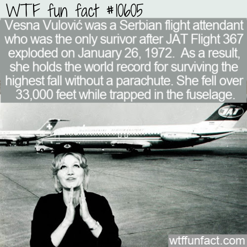 WTF Fun Fact - Highest Fall Without Parachute