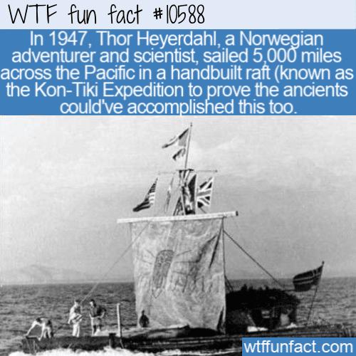 WTF Fun Fact - Kon-Tiki Expedition