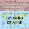 WTF Fun Fact – Esperanto Language