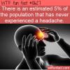 WTF Fun Fact – Never Had A Headache