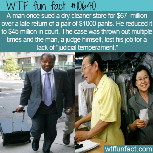 WTF Fun Fact - Pants Lawsuit