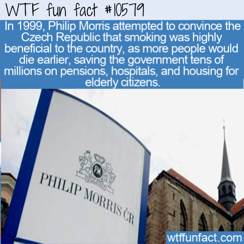 WTF Fun Fact - Phillip Morris Czech Yourself