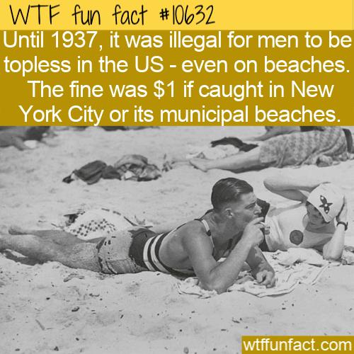 WTF Fun Fact - Shirtless Illegal