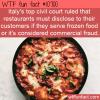WTF Fun Fact – Illegal Frozen Italian Food
