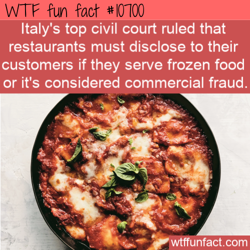 WTF Fun Fact - Frozen Italian Food Illegal