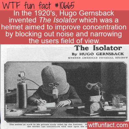 WTF Fun Fact - Isolator