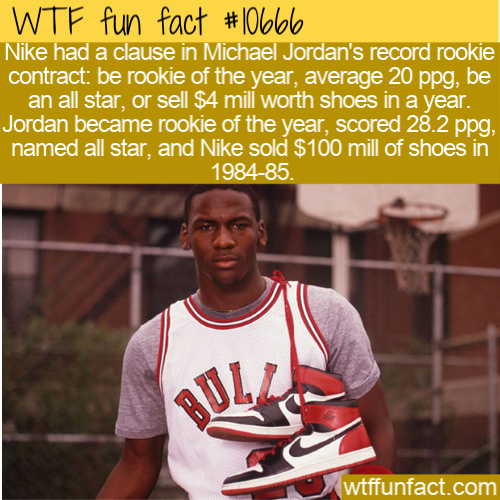 WTF Fun Fact - Jordan's Nike Contract