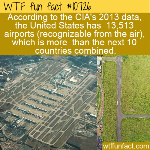 WTF Fun Fact - US Airport Numbers