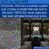 WTF Fun Fact – Cincinnati Subway