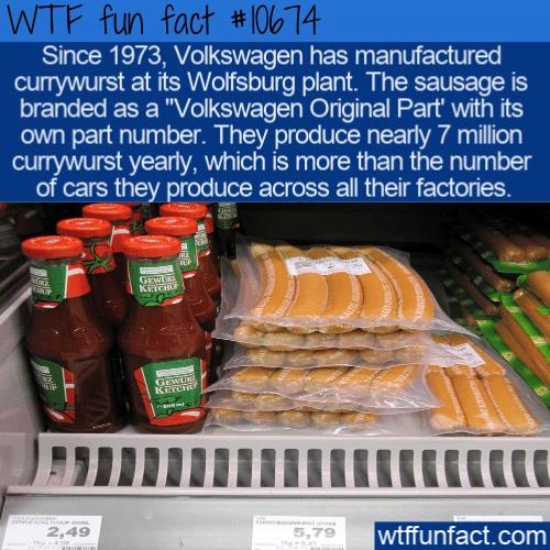 WTF Fun Fact - VW Currywurst