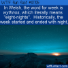 WTF Fun Fact – Wythnos