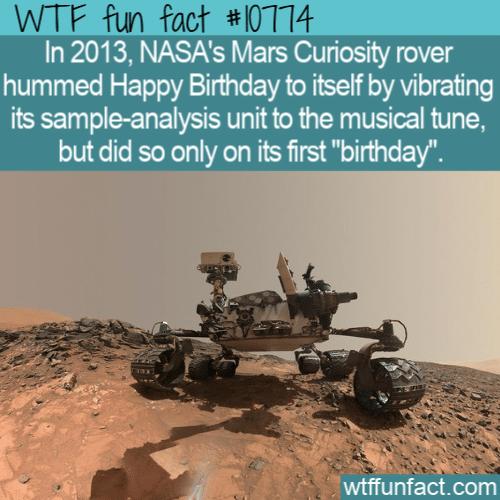 WTF Fun Fact - Curiosity Sang Happy Birthday