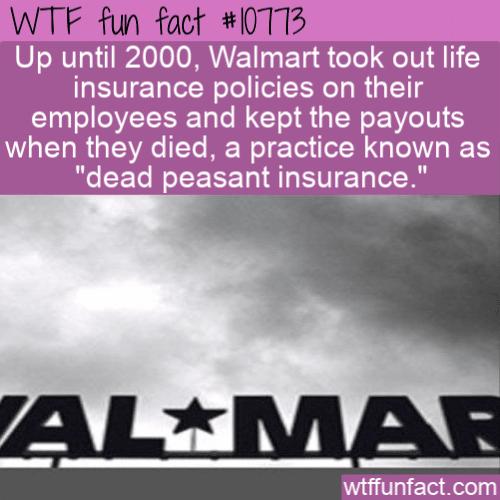 WTF Fun Fact - Dead Peasant Insurance