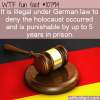 WTF Fun Fact – Holocaust Denial Law