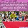 WTF Fun Fact – Lithuania Crawling Race