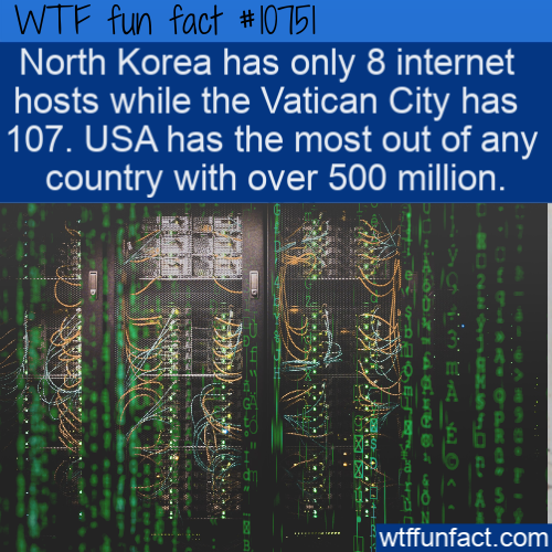 WTF Fun Fact - North Korean Internet Hosts