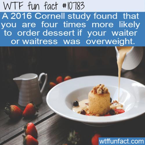 WTF Fun Fact - Ordering Dessert