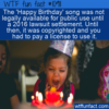 WTF Fun Fact – Happy Birthday Copyright