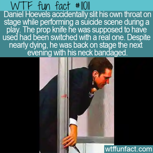 WTF Fun Fact - Actor Accidentally Slits Throat