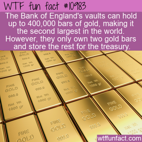WTF Fun Fact - Bank of England's Gold
