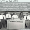 WTF Fun Fact – First VCR