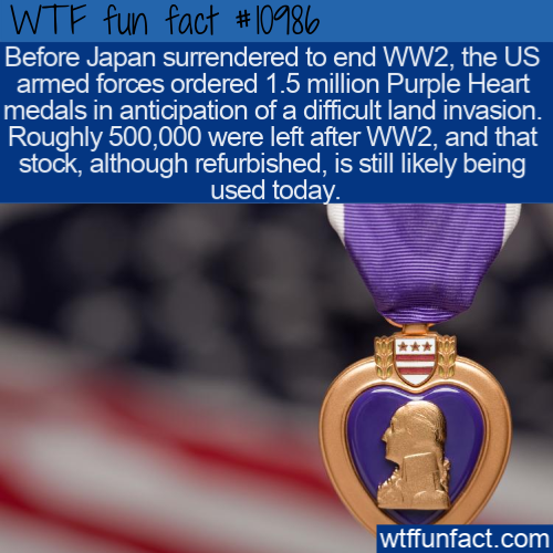 WTF Fun Fact - Excess Purple Hearts