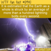 WTF Fun Fact – Lightning Strike Frequency
